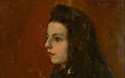 Schilderij met Portret van Maria Wandscheer
