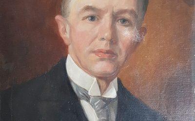 Schenking portret Zwerus de Nooij.